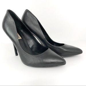 STEVE MADDEN Galleryy Leather Classic Pump Black 9